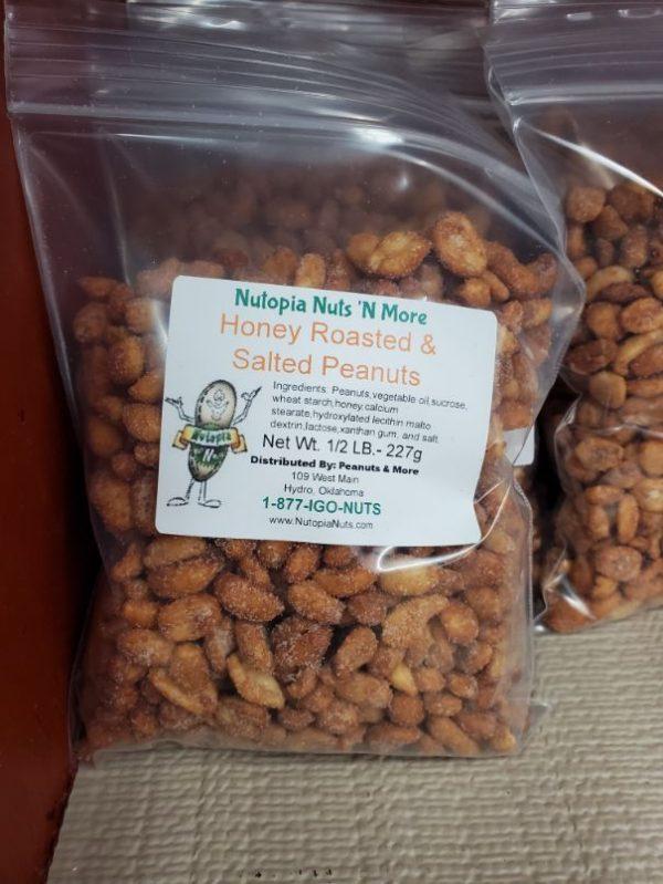 Honey Roasted & Salted Peanuts 1/2lb